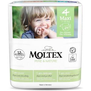 Autiņbiksītes Moltex Pure & Nature 4 Maxi 7-18kg 29gab