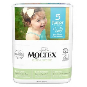 Autiņbiksītes Moltex Pure & Nature 5 Junior 11-25kg 25gab