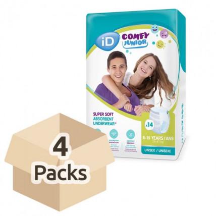 Autiņbiksītes-biksītes iD Comfy Junior 24-47kg 56gab (4x14)