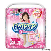 Treniņu biksītes Moony bērna pieradināšanai tualetei, meitenēm BIG 12-22kg 18gab