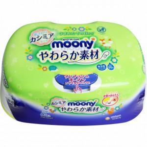 Moony mitrās  salvetes plastikāta kastīte 80gab